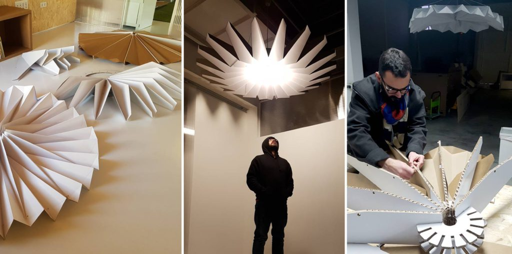 proceso diseño lamparas cartón