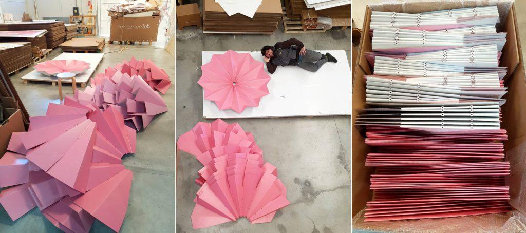 proceso de fabricación de lamparas de cartón