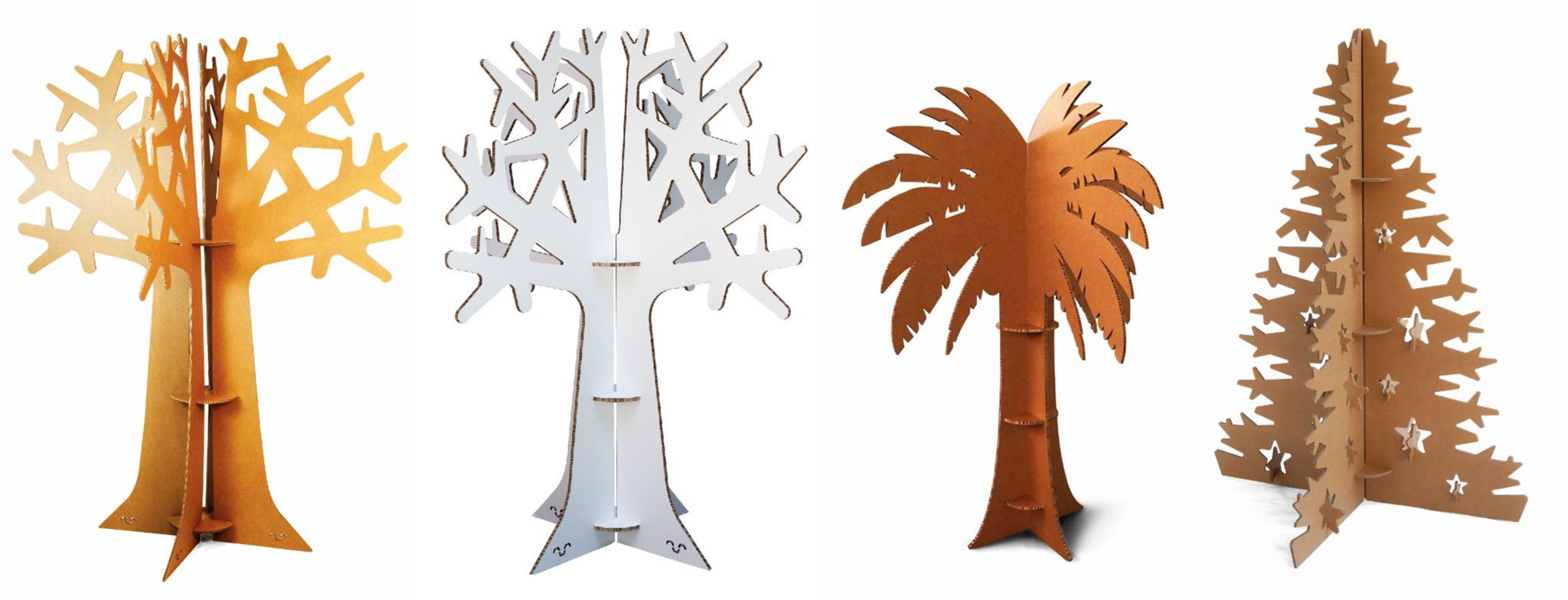 árboles carton palmera Navidad Cartonlab