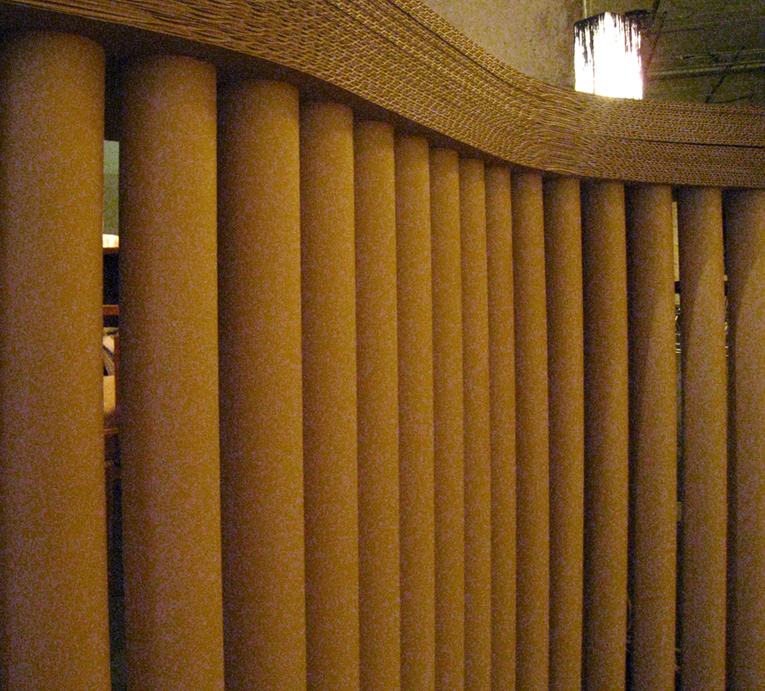 stand mueble tubos carton artmosfera cartonlab