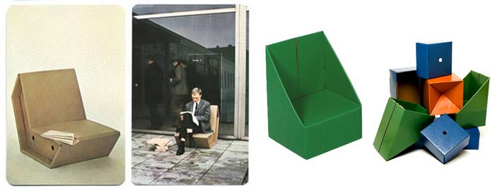 Otto y Papp, colecciones de sillas de cartón de Raacke