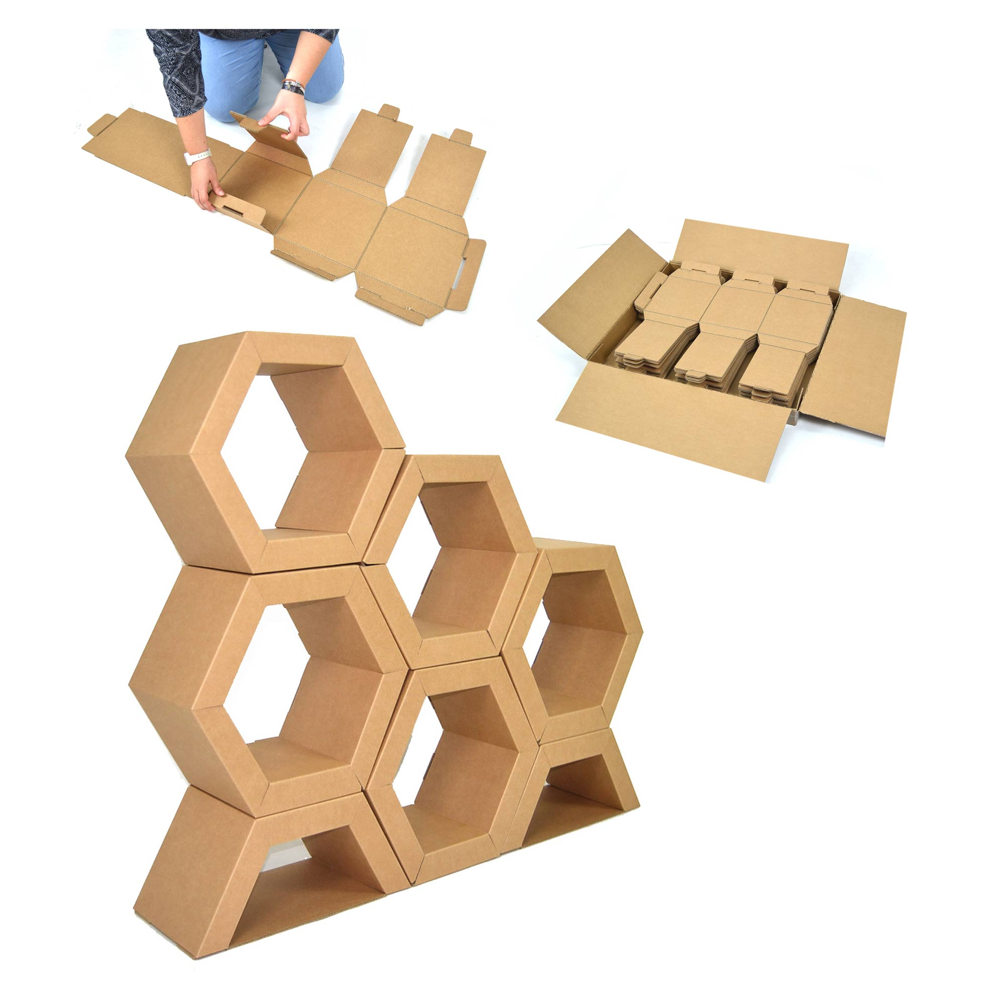 expositor hexagonal apivita cartonlab