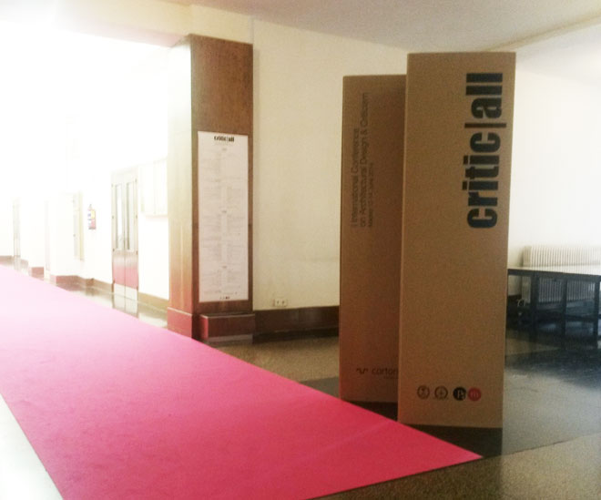 podium cardboard event custom