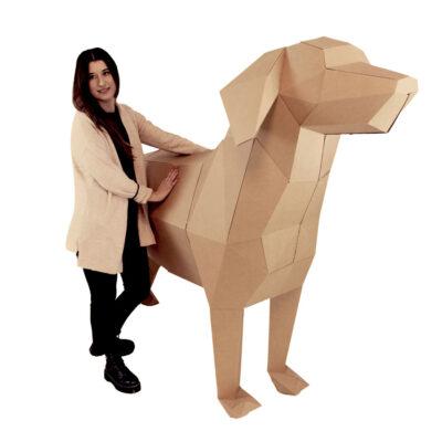 figura personalizada perro cartón real