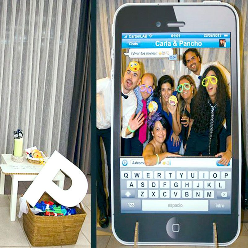 photocall telefono movil whatsapp