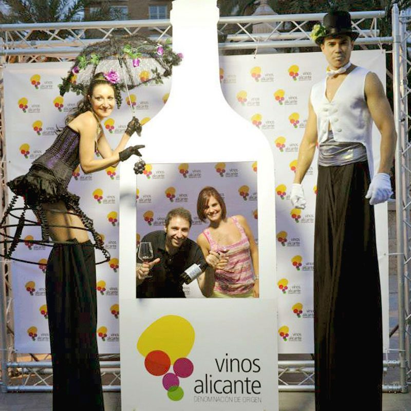 photocall botella eventos vino