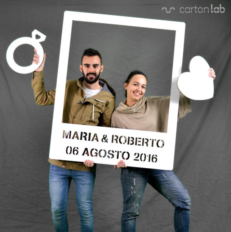 photocall polaroid marco carton boda celebración