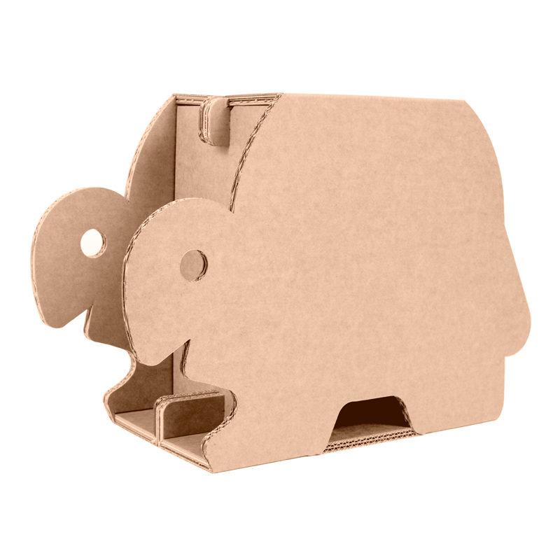 taburete tortuga carton