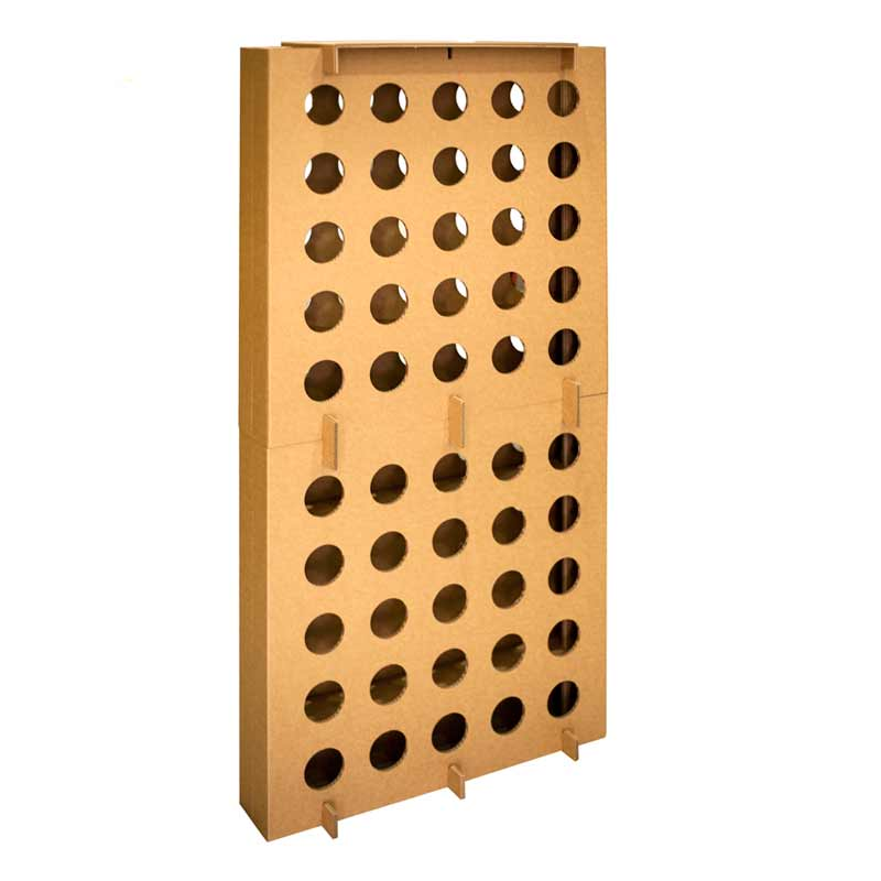 botellero de carton modular cartonlab cardboard bottle rack (2)
