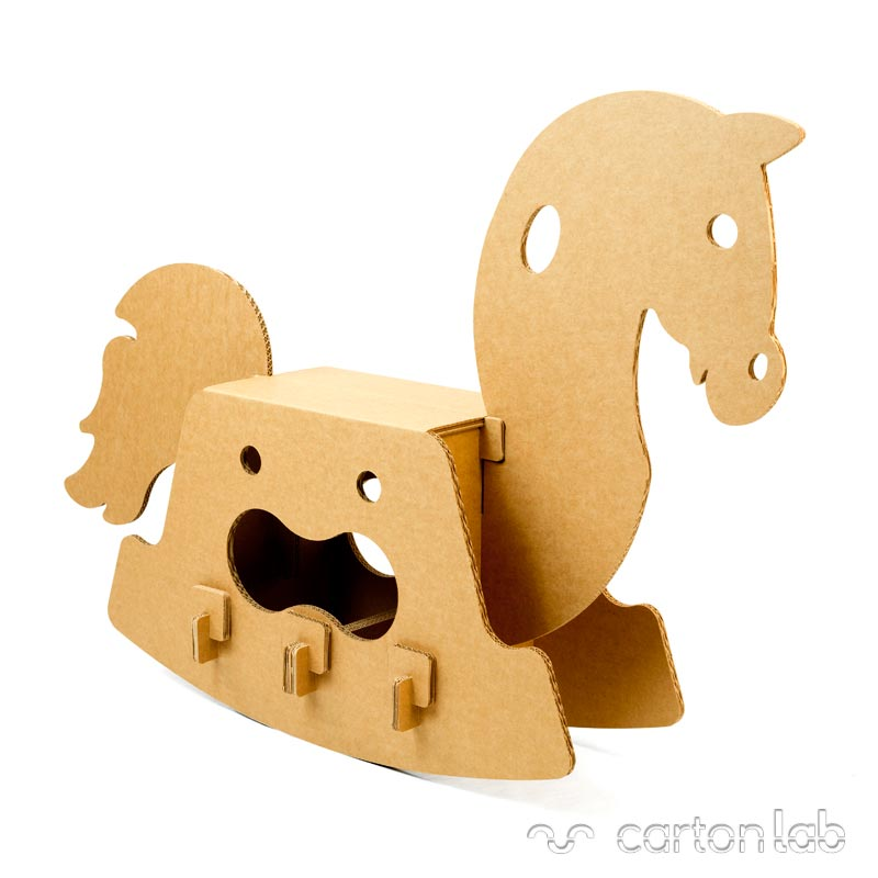 caballito carton cartonlab cardboard toy horse (1)