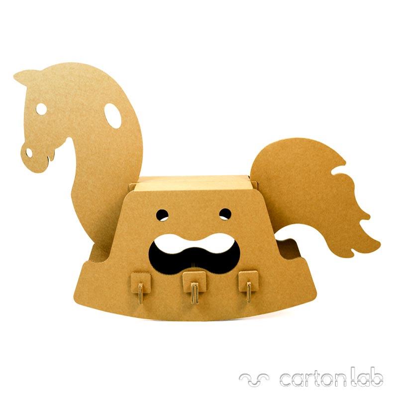 caballito carton cartonlab cardboard toy horse (4)