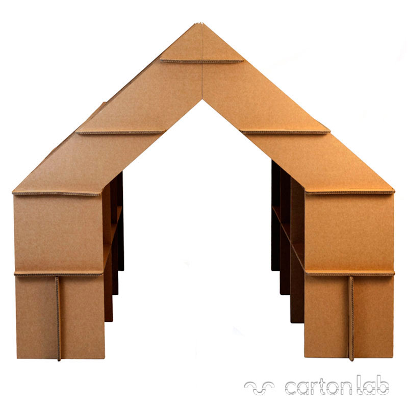 casita estanteria carton cartonlab cardboard house shelf bookshelves (2)