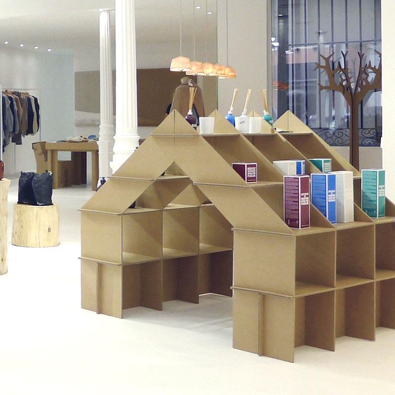 Tienda casita estanter a de cart n regalo infantil original pr ctica resistente y ecol gica - Estanteria carton ...