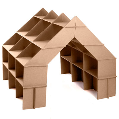 casita estanteria carton frontal