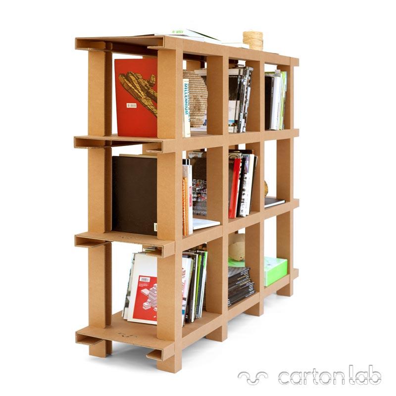 estanteria carton cartonlab cardboard shelf bookshelves (4)