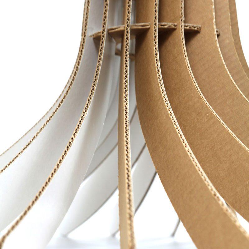 lámpara de cartón original techo siempreviva