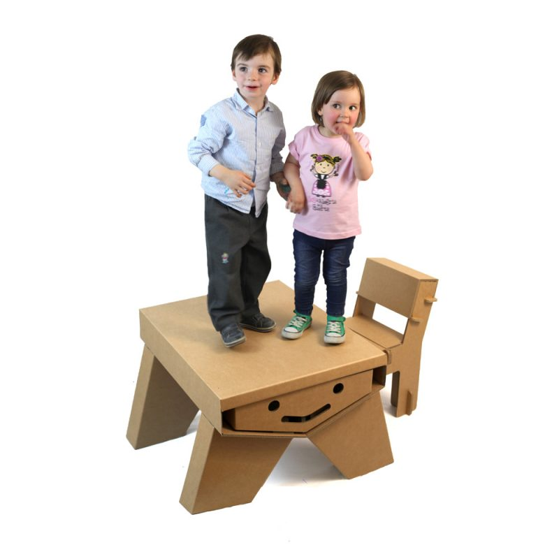mesa cartón infantil resistente modelo sonrisa cartonlab