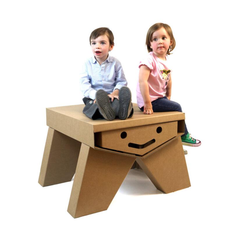 mesa pupitre cartón infantil ecológica original