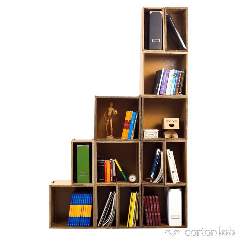 polipodio estanteria carton cartonlab cardboard shelving (3)