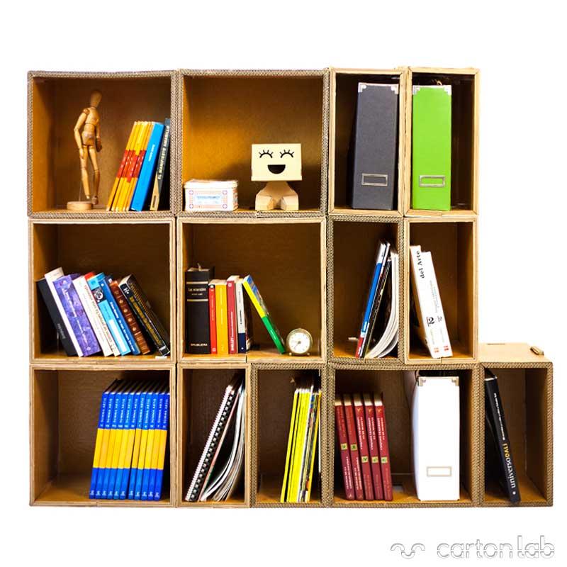 polipodio estanteria carton cartonlab cardboard shelving (4)