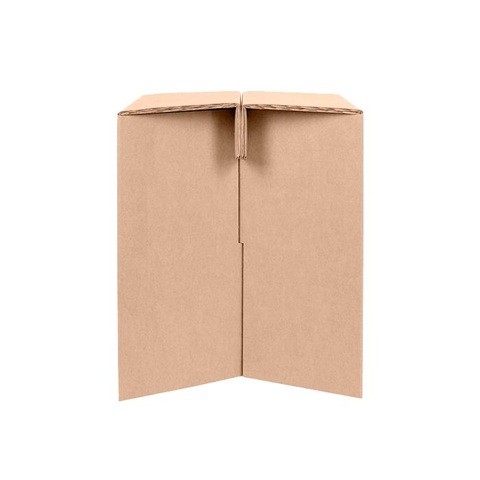 taburete de cartón resistente ecologico eventos