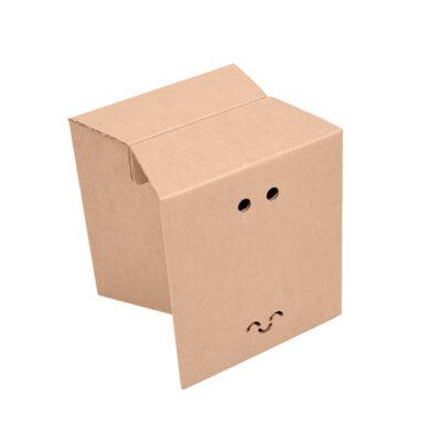 taburete de cartón plegable cartonlab
