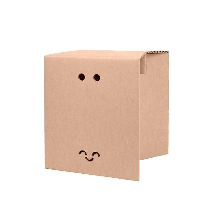 taburete de cartón cartonlab personalizado eventos