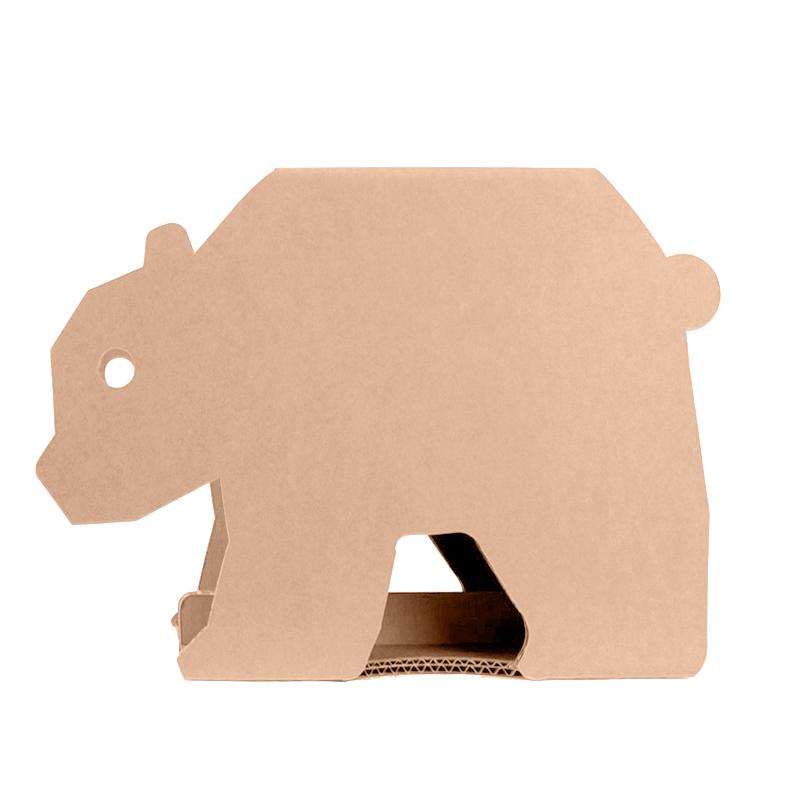 taburete cartón infantil diseño oso