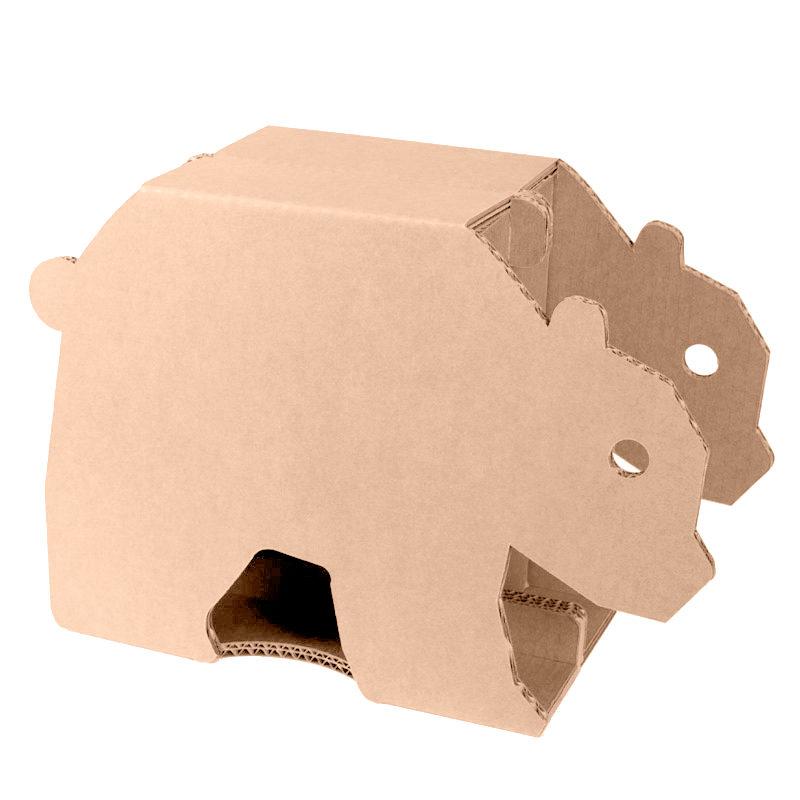 taburete de cartón infantil animal oso
