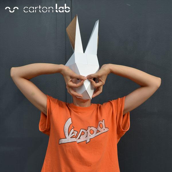 careta conejo carton cartonlab 01