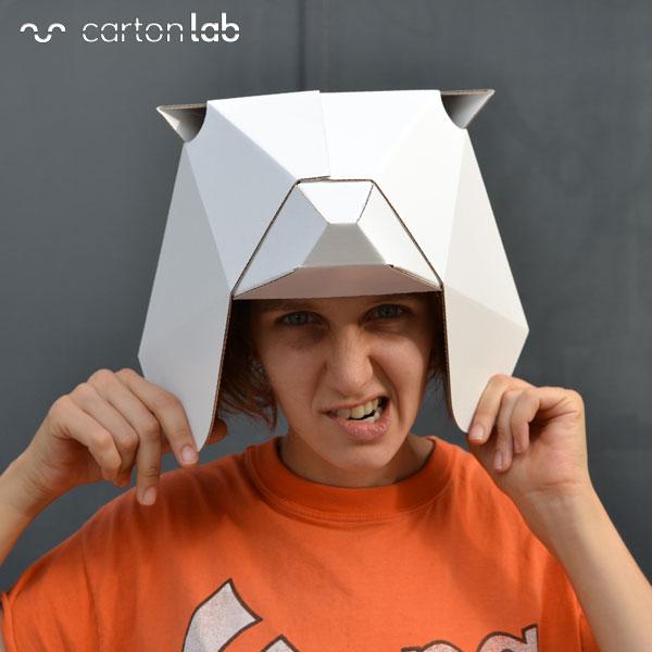 careta mascara origami oso cartonlab (2)