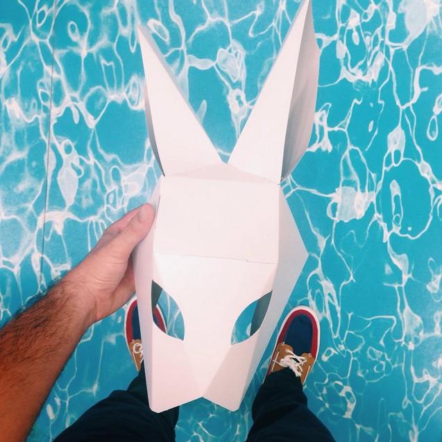 mascara conejo taller creativo verano carton