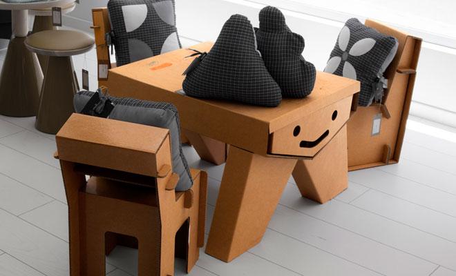 muebles de carton para tiendas la post street