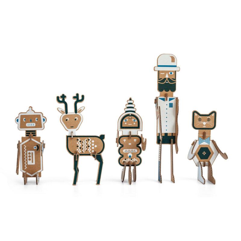 mixit figuras carton juguete ilustracion