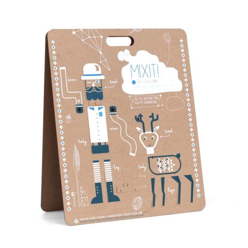 mixit juguete creativo carton ilustracion diego lizan