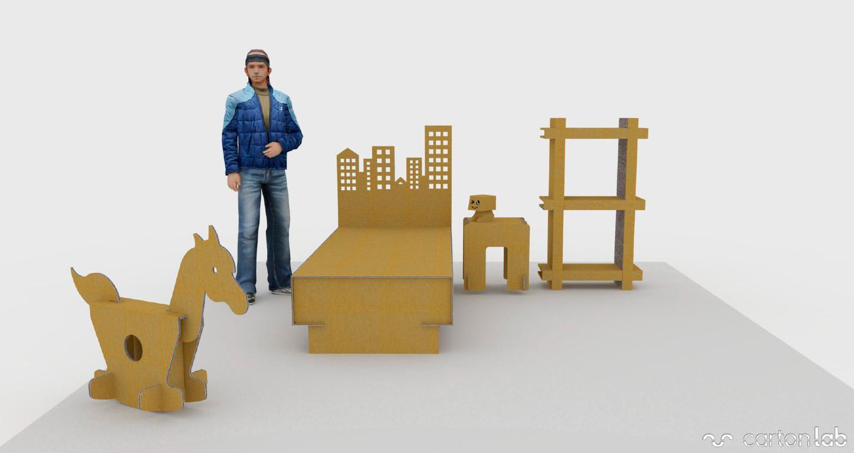 home-staging-muebles-de-cartón-dormitorio-infantil