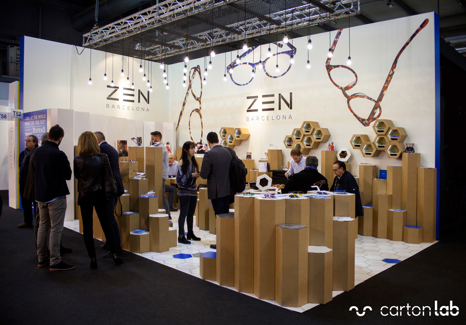 cardboard stand zen barcelona milano feria cartonlab 3