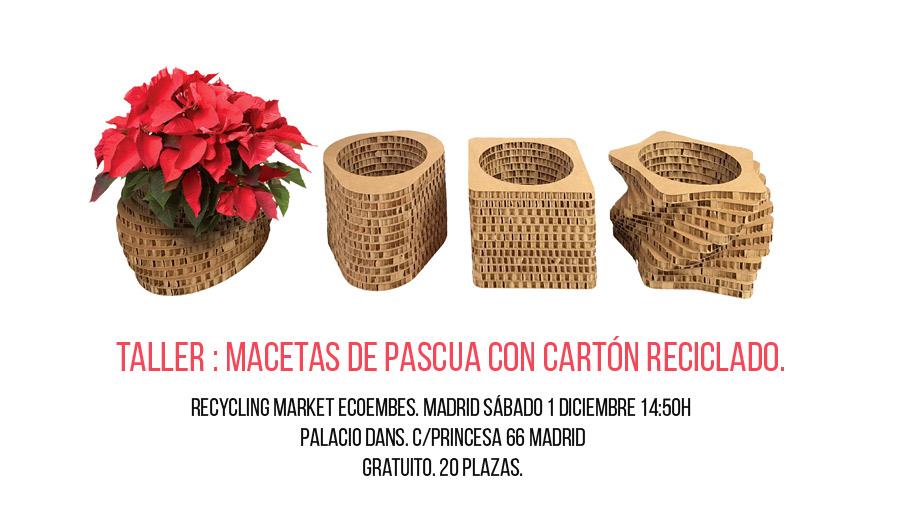 Recycling market taller macetas carton