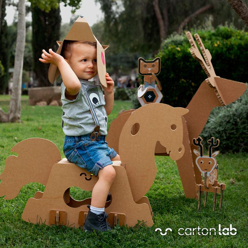 juguete carton infantil caballito productos cartonlab 01