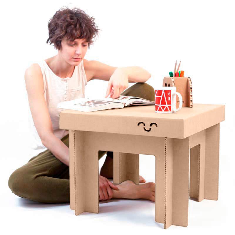 mesa carton infantil proporcion