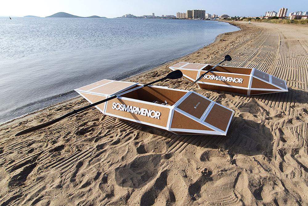 kayak cartonlab orilla playa