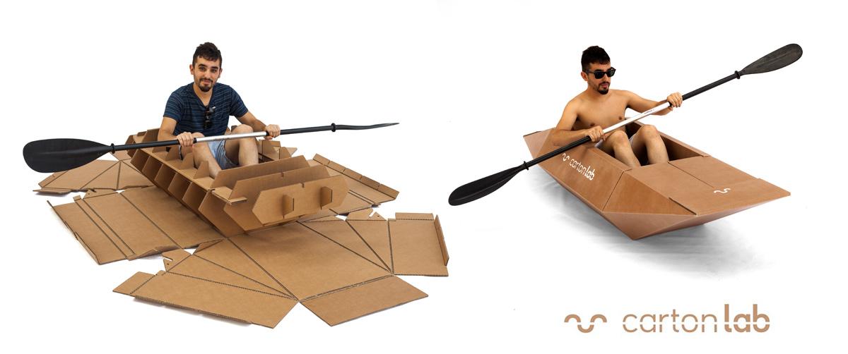kayak de carton cardboard cartonlab
