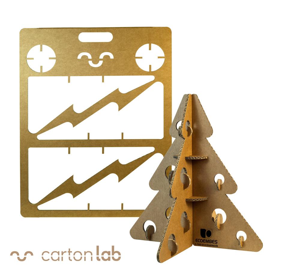 organizacion de eventos sostenibles arbol navidad carton regalo corporativo cartonlab ecoembes