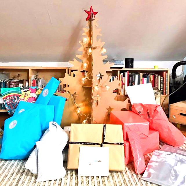 arbol de navidad carton decoracion