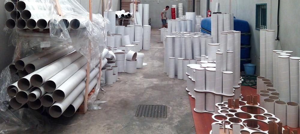 taller-tubos-carton-producción-stand