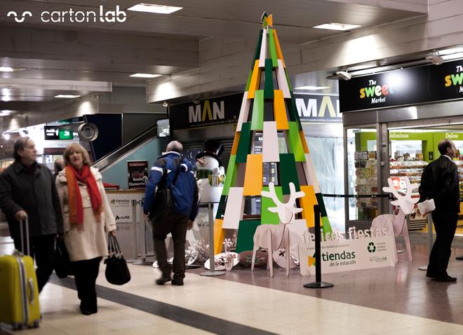 decoracion navidad tren chamartin