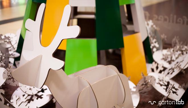 reno carton decoracion navidad hall