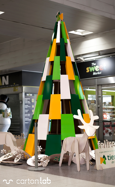 estacion tren decoracion navidad carton