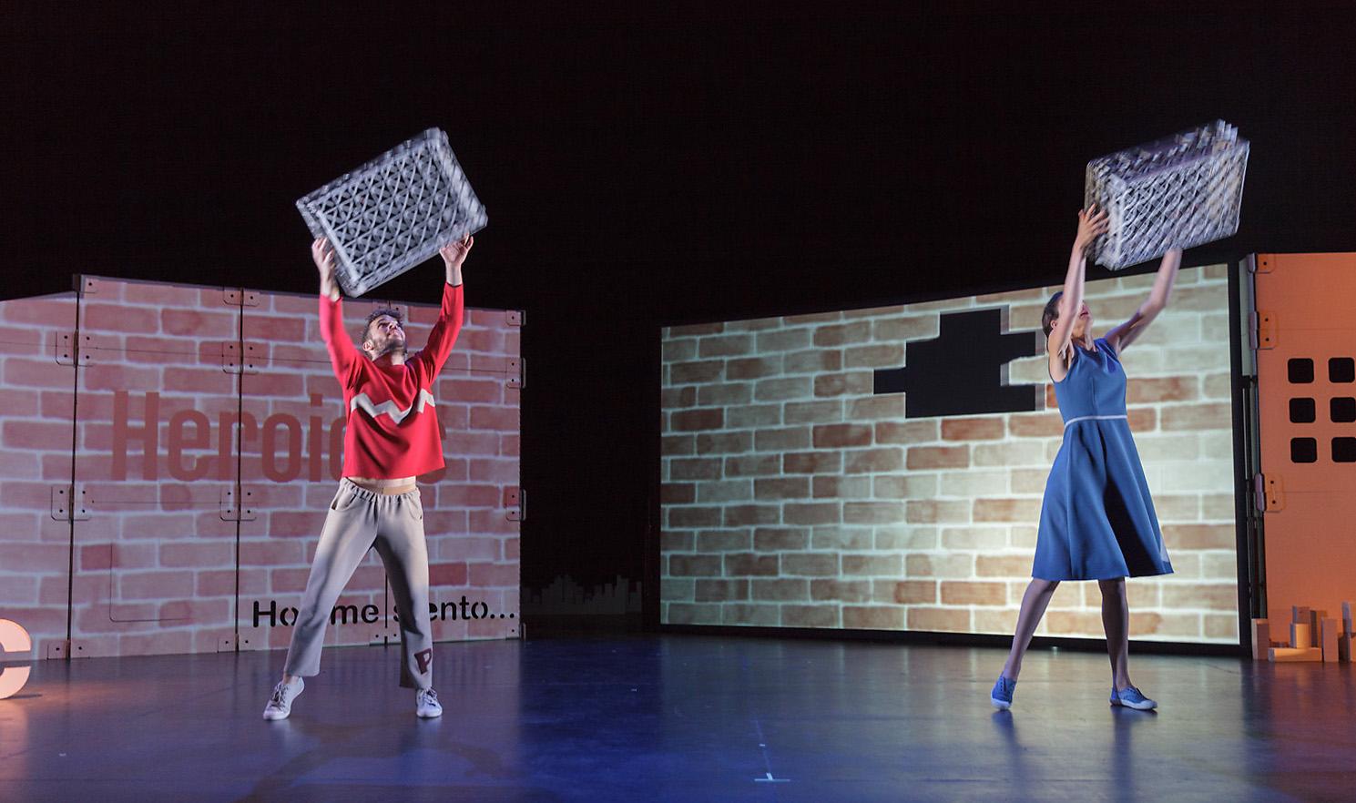 escenografia carton obra teatro actuacion ruido interno