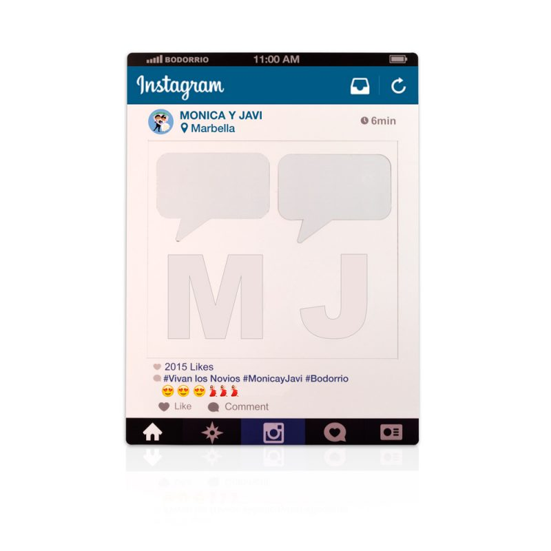 photocall marco instagram letras personalizadas fiesta carton
